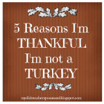 Five Reasons I'm Thankful I'm not a Turkey