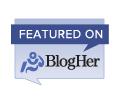 featured on BlogHer badge