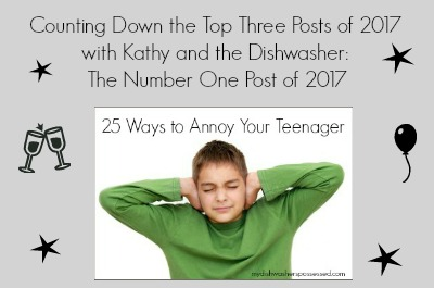 Counting Down the Top Three Posts of 2017 with Kathy and the Dishwasher: The Number One Post of 2017
